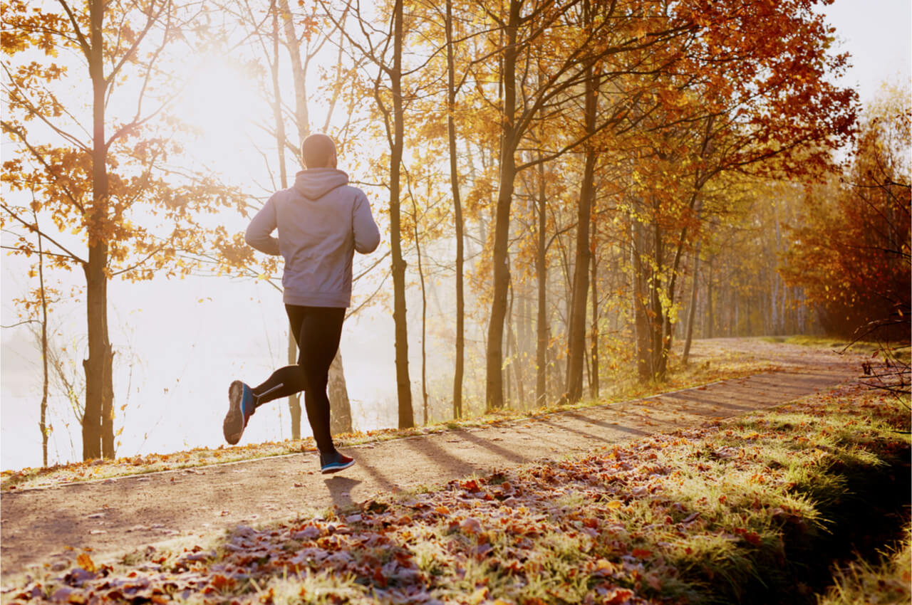 man running a mile a day