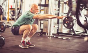 how to build leg muscle - do squats just like the old man