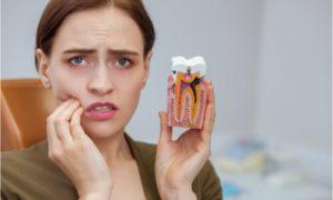 holding teeth sample